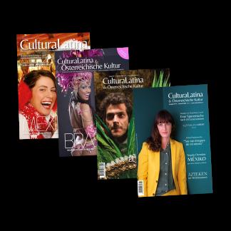 Cuatro portadas revista «CulturaLatina & Österreichische Kultur»